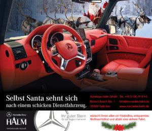 Mercedes Halm wünscht eine Frohe Adventszeit